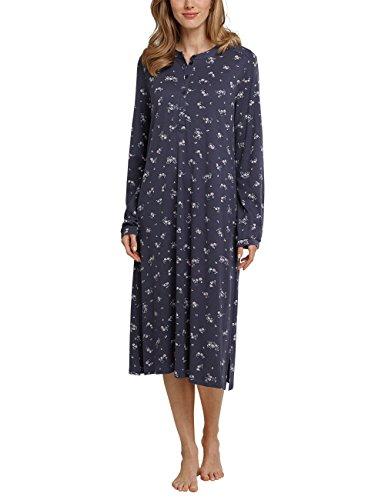 Schiesser Damen 1/1 Arm Nachthemd, Grau (Graphit 207), 46