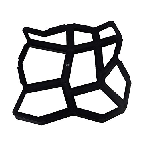 Molde para Cemento Jardín pavimento Moldes Paseo del jardín del pavimento de hormigón del molde DIY manual de pavimentación Cemento camino de baldosas de piedra de hormigón Moldes Ruta del compañero M