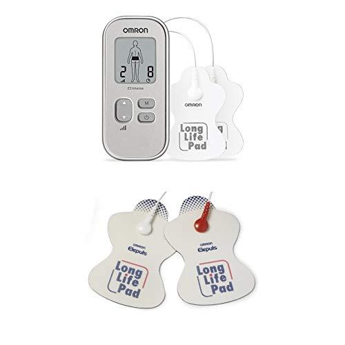 OMRON Tens E3 - Dispositivo para Alivio del Dolor, Tecnología de Triple Action Tens, Blanco + 2 Electrodos de Recambio
