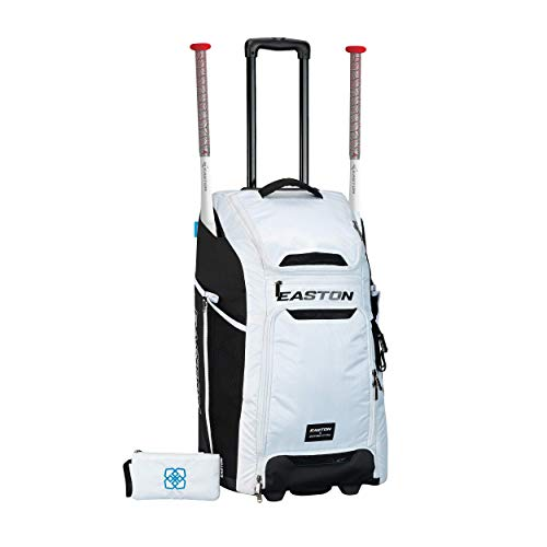 EASTON CATCHER'S Bat and Equipment Wheeled Bag, White, Jen Schro Softball, Female Edition