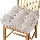 Big Ant Sitzkissen Weiche Stuhlkissen mit Bändern, Stuhl Auflage Sitzpolster aus 100% Baumwolle...