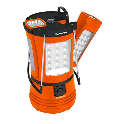 Bell + Howell Super Torch 70-LED Lantern with 2 Detachable Flashlights, Orange