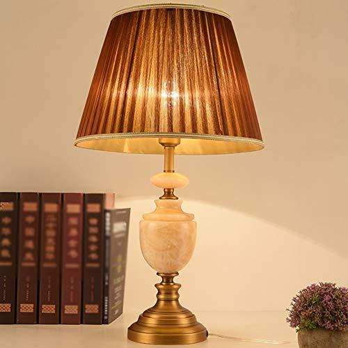 SXFYWYM Lampe de Table Simple Etude Minimaliste Moderne Etude Chambre Chevet Hôtel Villa Club Design Eclairage Décoratif,Brown,36X62CM