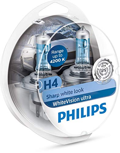 Philips WhiteVision Ultra Xenon H4 Twin box koud wit.