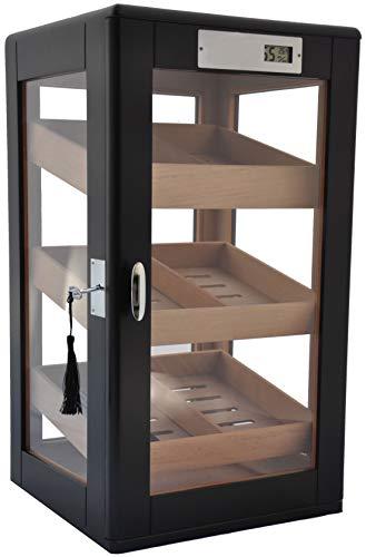 HUMIDORO Humidor Schrank für 75 Zigarren - Tür und Seiten aus Glas - DIGITALES Hygrometer