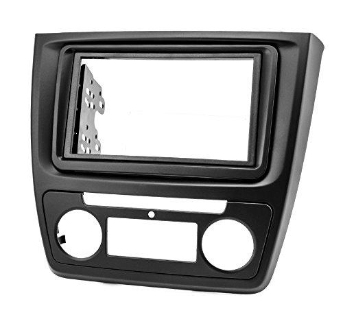 Preisvergleich Produktbild Watermark WM-6391 Radioblende Doppel-DIN 2DIN für Autoradio mit Auto. Klima schwarz