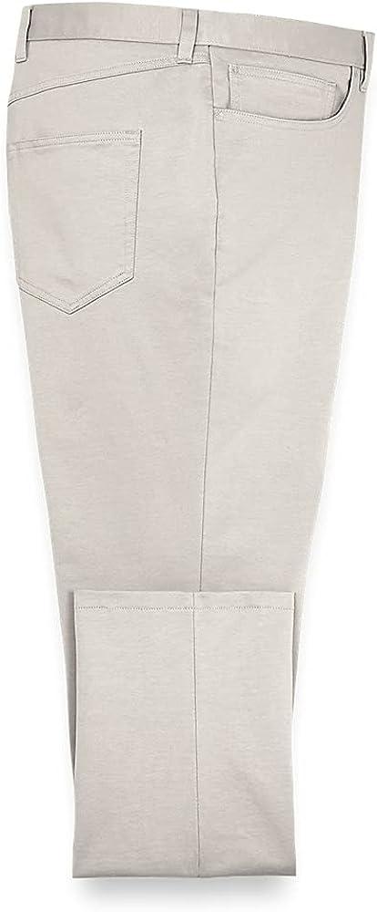 Paul Fredrick Men's Five Pocket Knit Pants, Size 46 X 32
