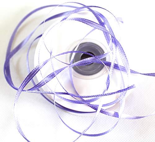 CaPiSo 100m Satinband 3mm Schleifenband Geschenkband Dekoband Satin Hochzeit Weihnachten Weihnachtsband (Flieder)