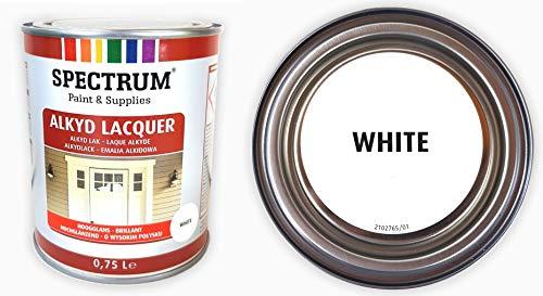 Acryllack Hochglanz Lack weiss 0,75 Liter brillant hochglänzend Buntlack