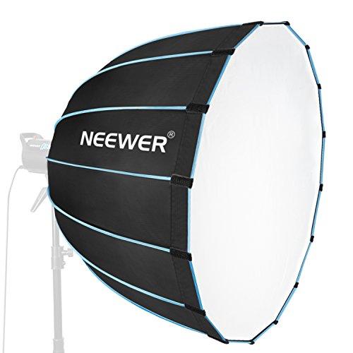 Neewer Dodecagon Softbox 89 cm mit blauem Rand und Bowens-Halterung, tragbarer und schnell zusammenklappbarer Softbox-Diffusor Kompatibel mit Neewer CB60 CB100 CB150 und anderen Bowens Mount Light