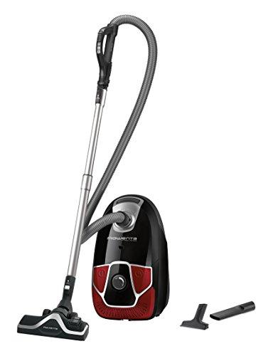 Rowenta RO6823 X-Trem Power Classic+ Bodenstaubsauger | Leiser Beutel-Staubsauger | Hohe Saugleistung | 4,5L Staubbeutel | 550W | schwarz/rot