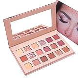 18 Colores Paleta De Sombra De Ojos Mate Y Brillo, Maquillaje Profesional Sombra De Ojos Cosmético...