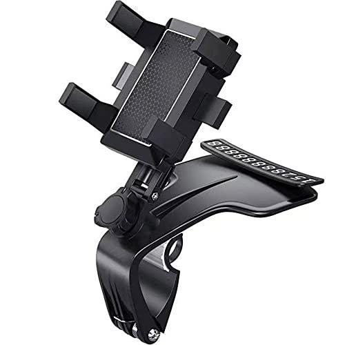 WAITLOVER Soporte para teléfono para coche, rotación ajustable de 360 ° HUD Dashboard Clip Mount Stand para auto