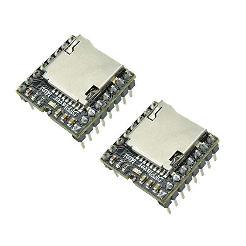 Aideepen 2個セットMini MP3プレーヤーDFPlayer WMVデコーダーTFマイクロSDカードUディスク音声ボイス音楽モジュール Arduino UNO用