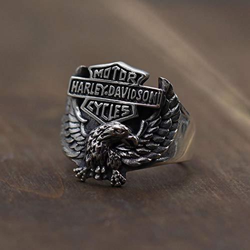 YOYOYAYA Ring S 925 Sterling Silber Schmuck Harley Eagle Einstellbar Retro Classic Partei Frau Paar Zarte Fashion Einfachheit Geburtstag Gedenken Geschenk