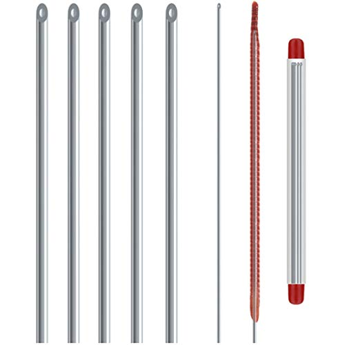 Folewr 5 unids/set metal hueco gas aguja acero inoxidable rápido cebo superior penetrar lombriz tierra pesca engranajes herramientas