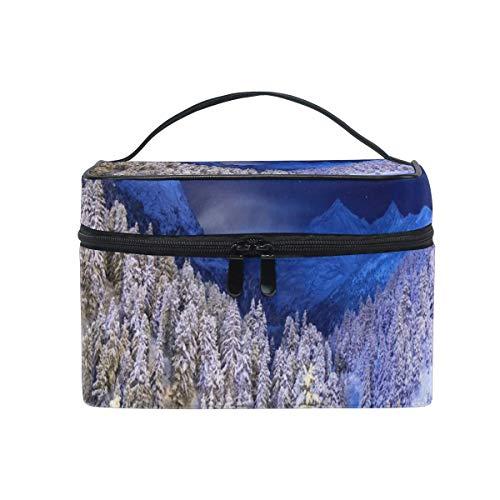 Maquillage Sac Snow Tree Cosmetic Bag Portable Grand Trousse de Toilette pour Femmes/Filles Voyage