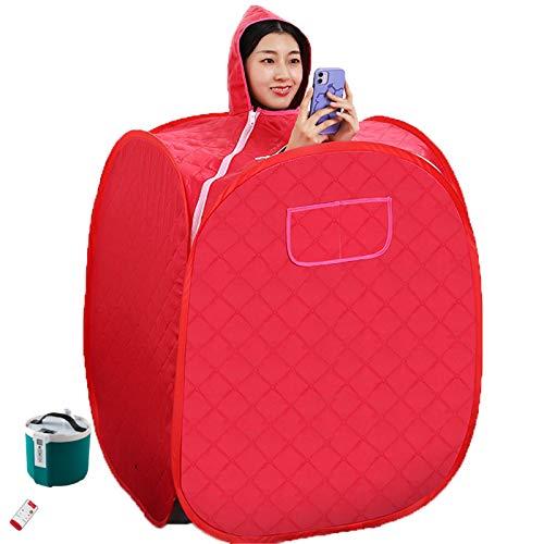 ACJIA Faltbare tragbare Sauna-Dampfer-Box, Dampfsauna-Kabine Home Spa-Ganzkörper-Entspannte und Gesichts-Spa-Maschine mit Aufbewahrungstasche, Fernbedienung