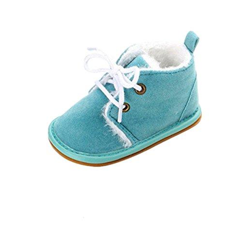 Zapatos de bebé Auxma Zapatos de bebé, Bebé niño Infantil Nieve Botas Zapatos Suela de Goma Cuna Prewalker (11cm(0-6 Meses), Azul de Cielo)