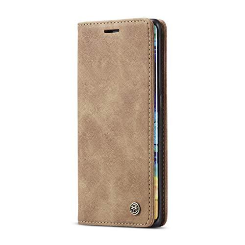 JMstore hülle kompatibel mit Huawei Mate 30 Pro, Leder Flip Schutzhülle Brieftasche Handyhülle mit Kreditkarten Standfunktion (Braun)