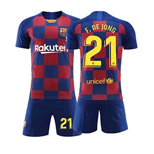 COOLBOY F.de Jong 21# Fußball Trikot und Shorts Kinder und Jugend Größe,24