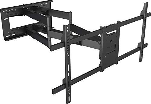 My Wall H 27-2 XL - Supporto da parete per TV allungabile, girevole, inclinabile, girevole, nero