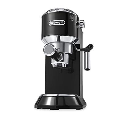 DeLonghi America EC680B Dedica 15-Bar Pump Espresso Machine, Black