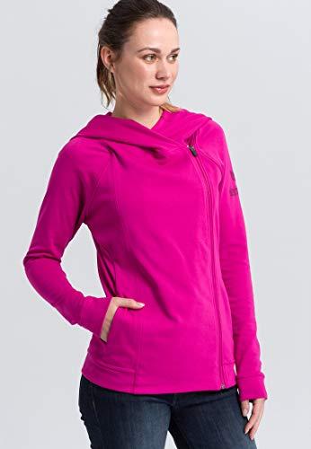 ERIMA Damen Jacke Essential Kapuzensweatjacke, fuchsia/purple potion, 46, 2071825