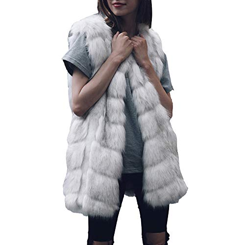 Lulupi Donna Inverno Gilet Ultraleggeri Caldo Cardigan Senza Maniche Donna Giacca Elegante Trapuntato Giubbotto Morbida Cappotto Pelliccia Sintetica