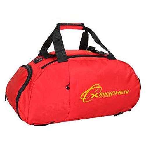 Bolso de hombroBucbon Triple Sports Bag Mochila de Hombro portátil Zapatos Almacenamiento Hombres Mujeres Entrenamiento Fitness Bolsa de Deporte Bolsa de Viaje