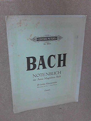 Bach - Notenbuch der Anna Magdalena Bach 20 leichte klavierstucke - Morceaus faciles ~ Easy Pieces