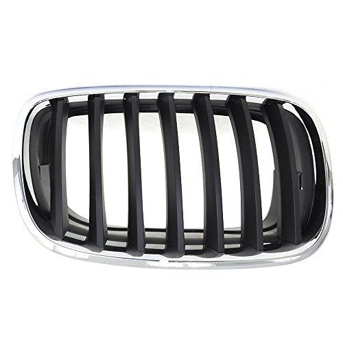 Perfit Liner New Front Right Passenger Side Chrome Black Grille Grill Replacement For BMW E70 X5 E71 X6 SUV Fits M.3 OSI Model BM1200181 51137157688