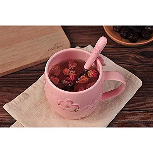 Portonss Dreidimensionale Kirschblüte Blume Tee Bohne Teetasse Kaffeetasse Kreative Tasse Kuksa Tasse Liebhaber Geschenkbox