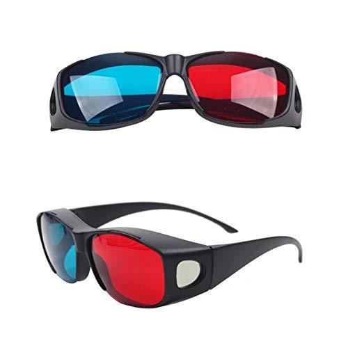 mi ji Joyería Cian Gafas 3D anaglifo Estilo Simple-Rojo Azul Gafas 3D 3D Juego de la película Extra-Estilo de la Mejora