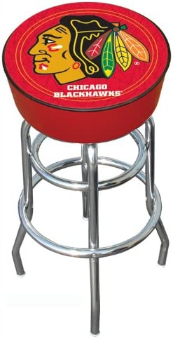 NHL Chicago Quality inspection Blackhawks Padded Bar Clearance SALE! Limited time! Stool Swivel