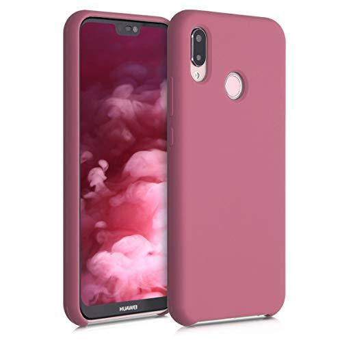 kwmobile Custodia Compatibile con Huawei P20 Lite - Cover in Silicone TPU - Back Case per Smartphone - Protezione Gommata Cipria Scuro