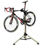 Bikehand Tripod Bike Repair Stand - Home Portable Bicycle Mechanics Workstand - Great for Mountain Bikes and Road Bikes Maintenance