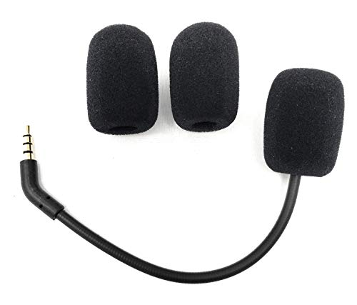 TNE - Cloud Flight/Revolver Replacement Game Mic 3.5mm Microphone Boom for Kingston HyperX Cloud Flight and HyperX Cloud Revolver/Revolver S Gaming Headsets | Extra Foam Cover Pop Filters