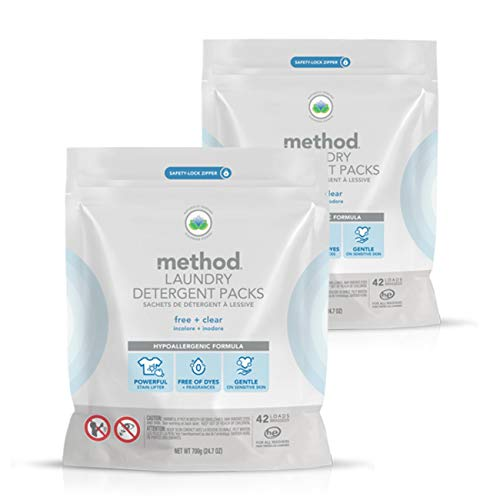Method Laundry Detergent Packs Free  Clear 218 Ounce Pack of 2