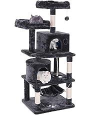 キャットタワー 猫タワー 大型猫 ネコタワー 天然サイザル麻紐 爪とぎ 2つ猫ハウス 猫 ハンモック 多頭飼い ねこ タワー 転倒防止 安定性抜群
