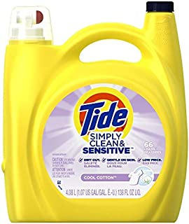 Tide Simply Clean & Sensitive Cool Cotton Laundry Detergent, 138 Fl Oz