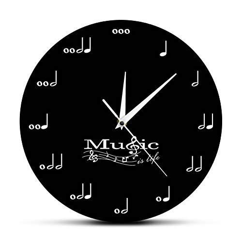 WANGY Musik ist Leben inspirierend Wanddekoration Symphonie Musik Wanduhr Violinschlüssel Musikstudio hängende Wand Tisch Musiker Geschenk