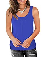 Traleubie Round Neck Workout Tank Tops for Women Casual Sleeveless Shirts Loose Fit Royal Blue XL