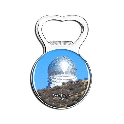 Weekino Fort Davis McDonald Observatorium Texas Bier Flaschenöffner Kühlschrank Magnet Metall Souvenir Reise Gift