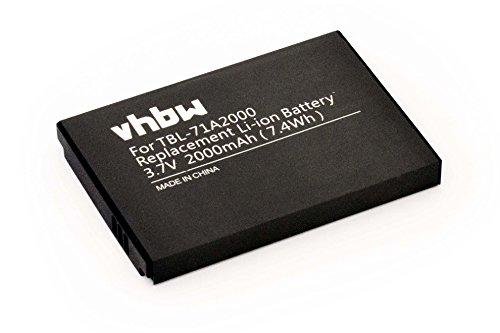 vhbw Li-Ion Akku 2000mAh (3.7V) für WLAN Router, Hotspot TP-Link M5250, M5350, TL-TR761, TL-TR861 wie TBL-71A2000.