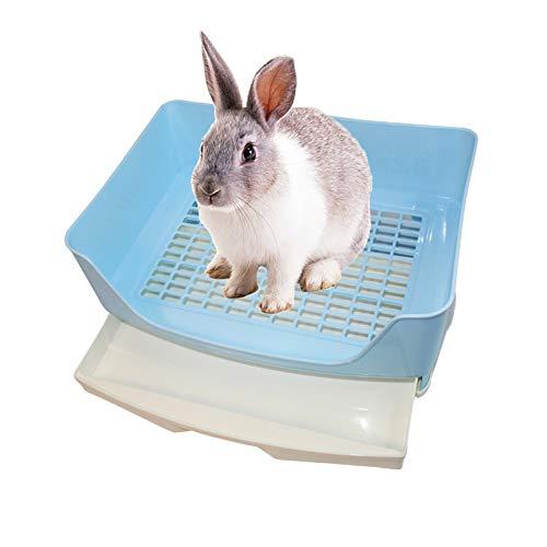 kathson Large Rabbit Litter Box Trainer, Potty Corner Toilet with Drawer Bigger Pet Pan for Adult...