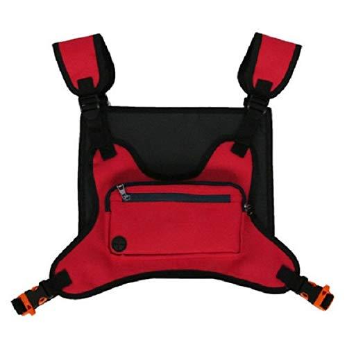 LINGNING Bolsa de Pecho Multifuncional Deportes al Aire Libre y Bolso de Ocio Pecho Fitness Chaleco Bolsa zpf (Color : Red)