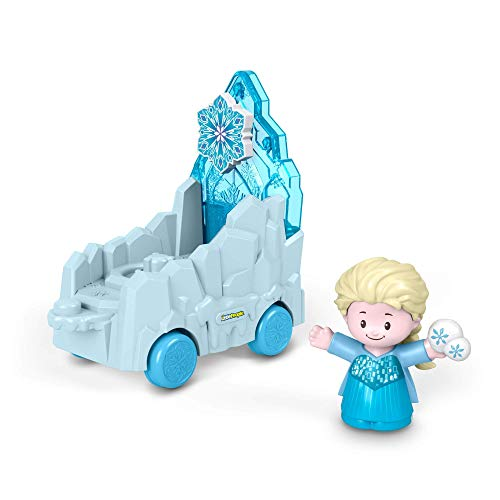 Little People Carroza de Desfile de Elsa, Juguetes Bebés +1 Año (Mattel GNR07)