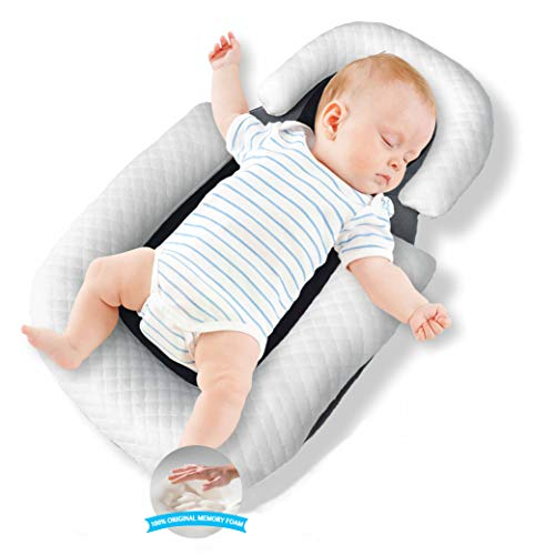 Baby Nest Original Baby Sleep Positioner Lounger With Baby Pillow, Baby Cocoon Travel Crib Co Sleeping Newborn Lounger