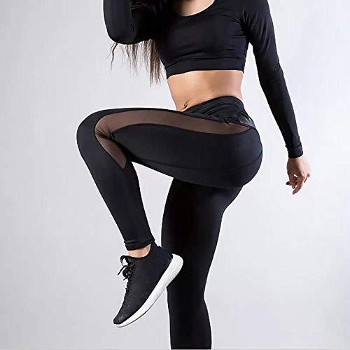 Legins Fitness mujerPantalones de Yoga Sexy Leggings de Mujer Push Up Fitness Gym Leggins Running Mesh Seamless Workout Pants Femme High Waist